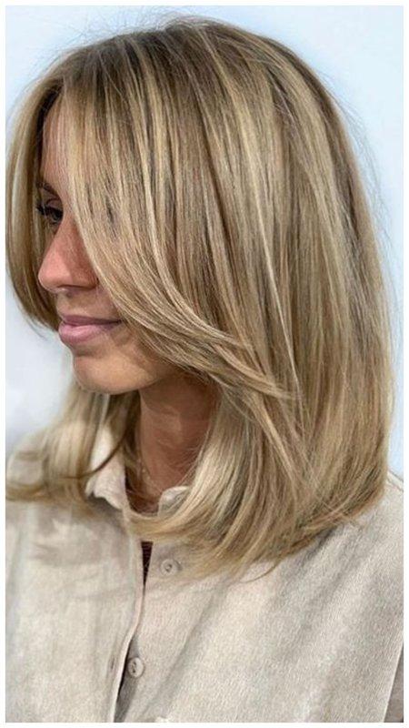 Фото идея стрижки на тонкие волосы