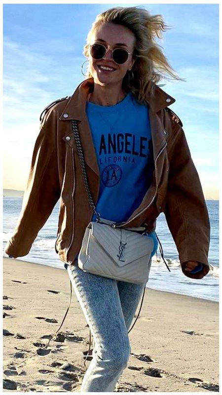 Полина Гагарина в модной куртке