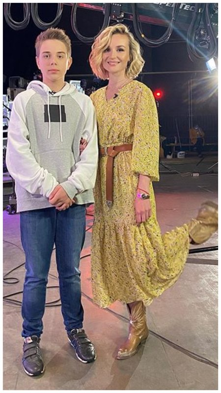 Полина Гагарина с сыном фото