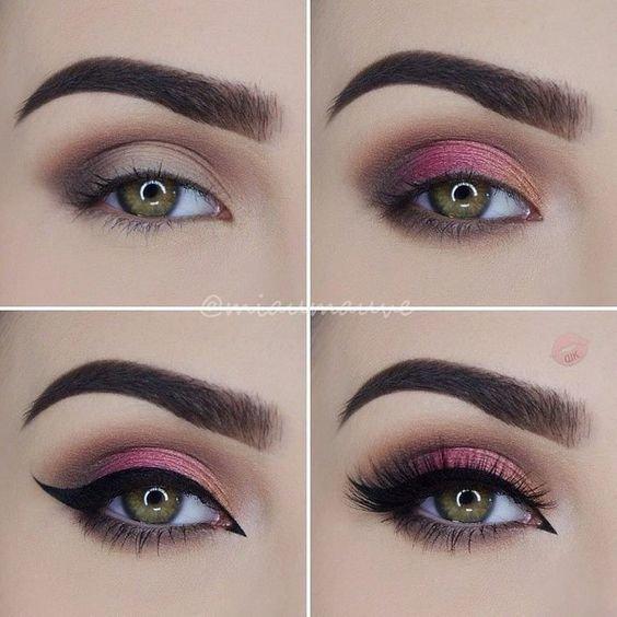 Вечерний макияж для зеленых глаз со стрелкой