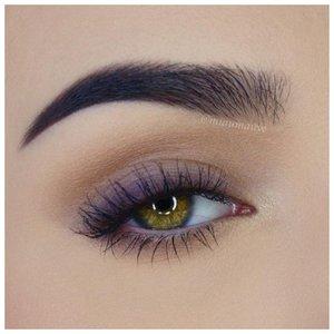 Очень нежный макияж фиолетовыми тенями