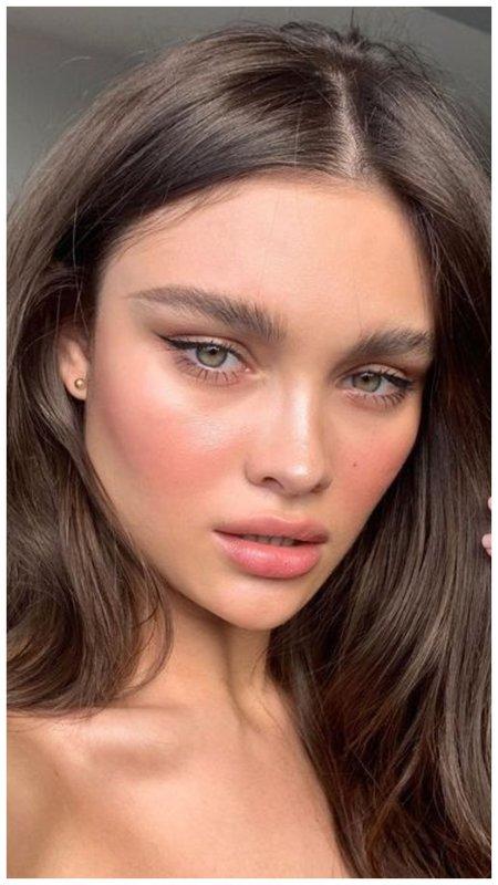 Нюдовый макияж со стрелками на каждый день