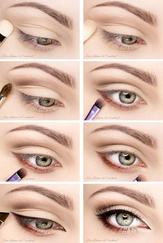 Простой вечерний макияж для зеленых глаз