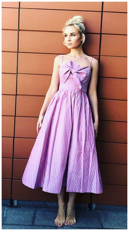 Полина Гагарина в красивом летнем платье