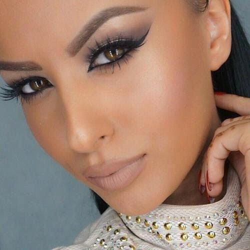 Красивый восточный макияж для зеленых глаз