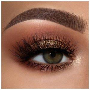 """Золотой макияж для зеленых глаз в стиле """"смоки айс"""""""