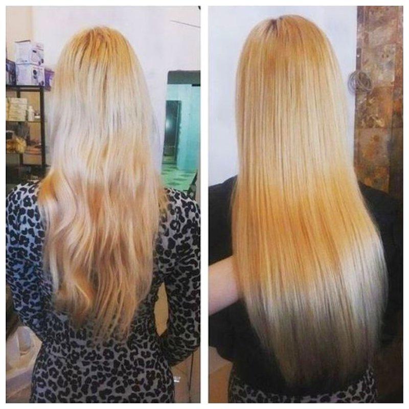 Эффект экранирования на светлых волосах