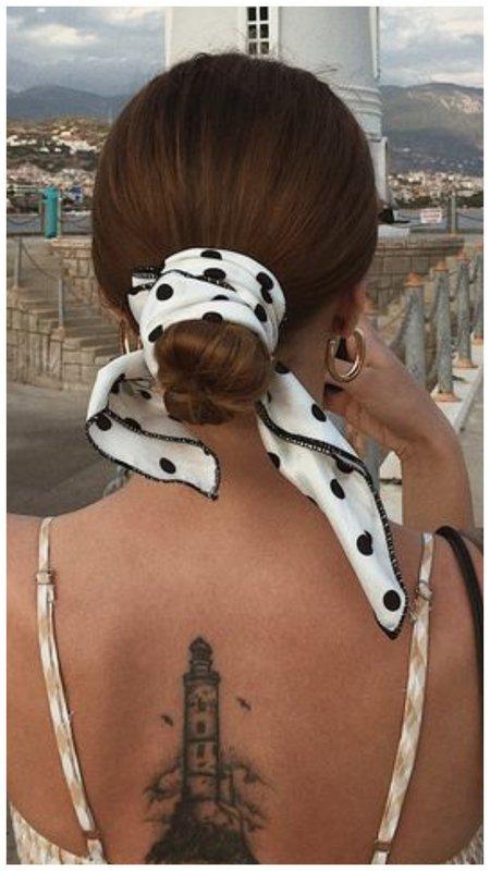 Гулька лентой для волос