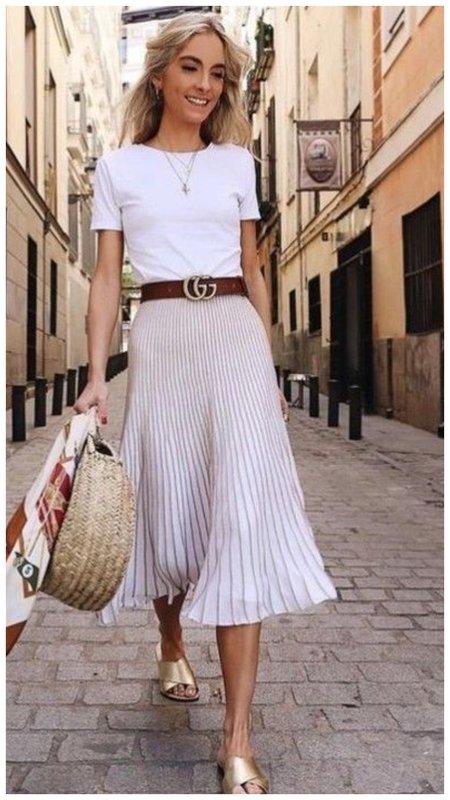 Образ для отпуска с блинной юбкой