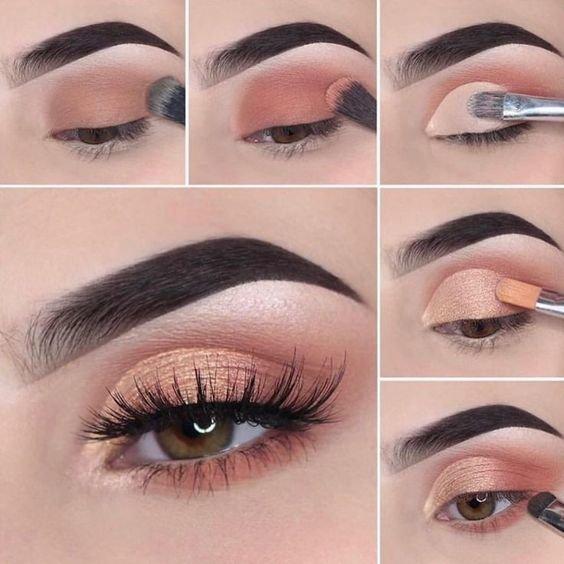 Легкий макияж для зеленых глаз пошагово