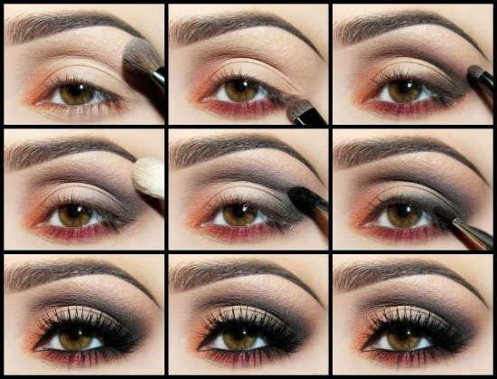 Красивый вечерний макияж для зеленых глаз пошагово