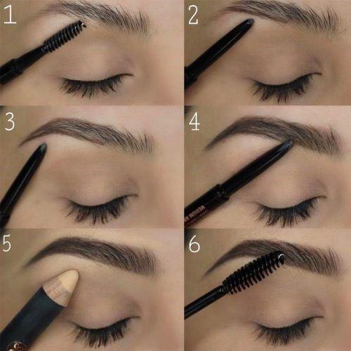 Как подкрасить брови карандашом