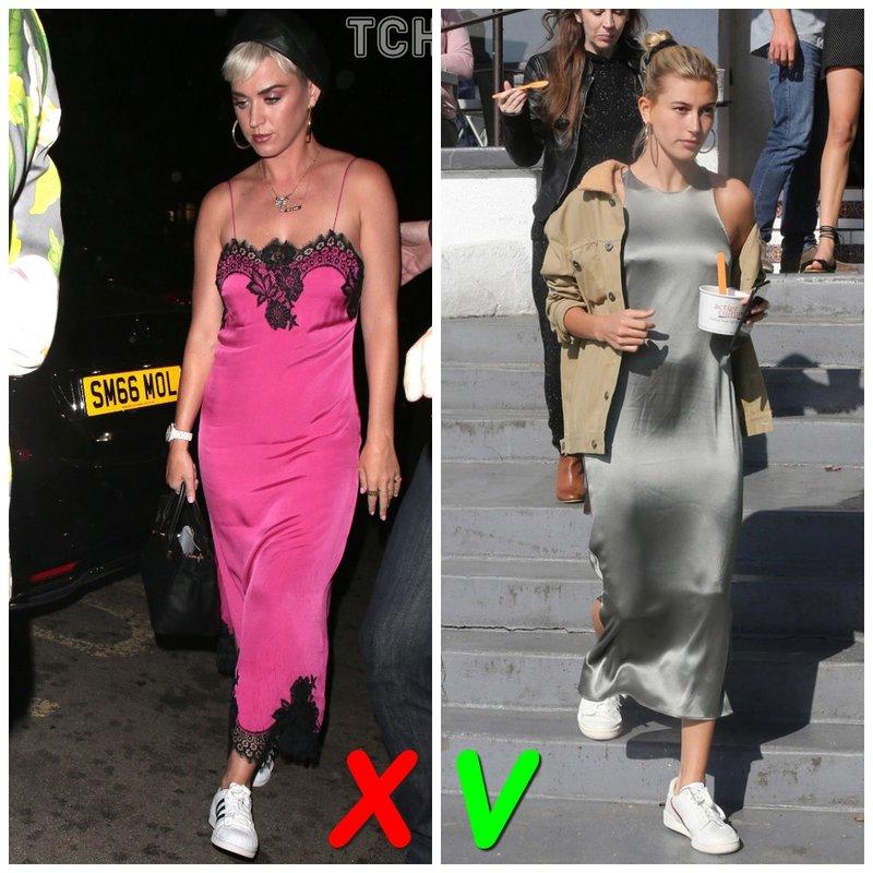 Платье-комбинация с кроссовками