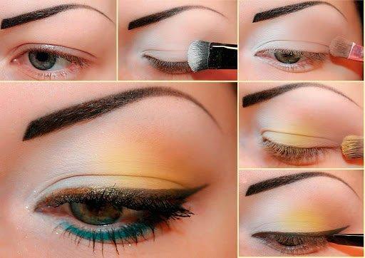 Макияж для зеленых глаз со стрелкой