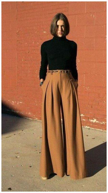 Классные брюки палаццо на осень