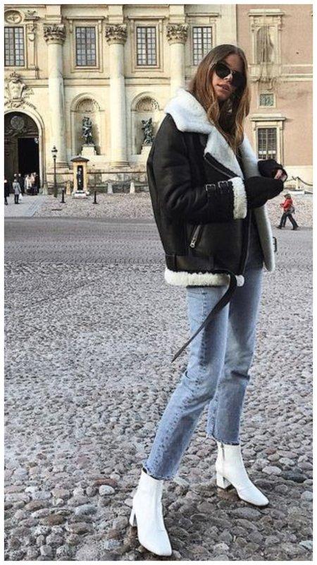 Как модно носить узкие джинсы