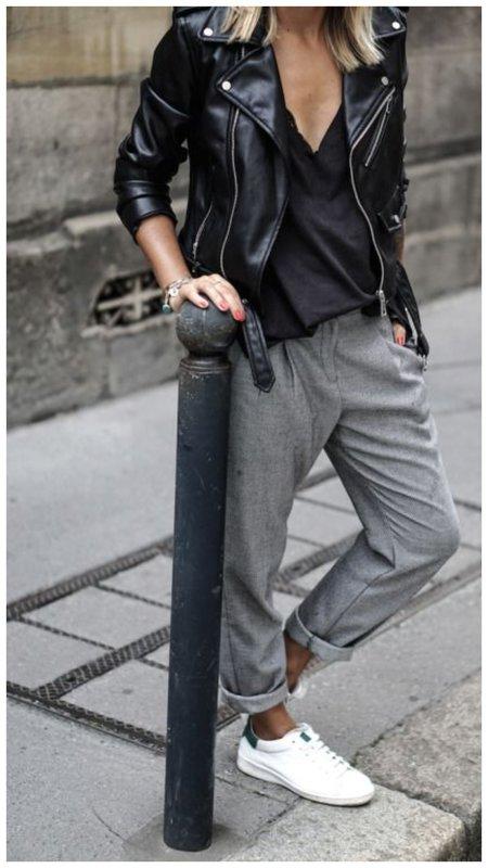 С чем носить брюки осенью