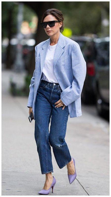 Виктория Бекхэм в пиджаке