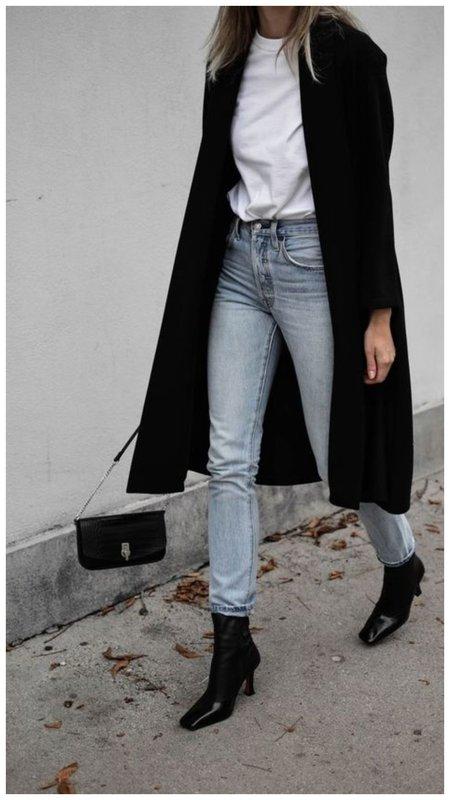 С чем носить узкие джинсы осенью