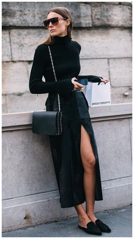 Длинная юбка с водолазкой