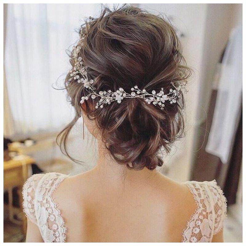 Как красиво собрать короткие волосы на свадьбу