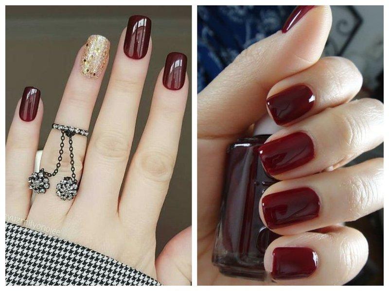 Ногти цвета обожженный кирпич