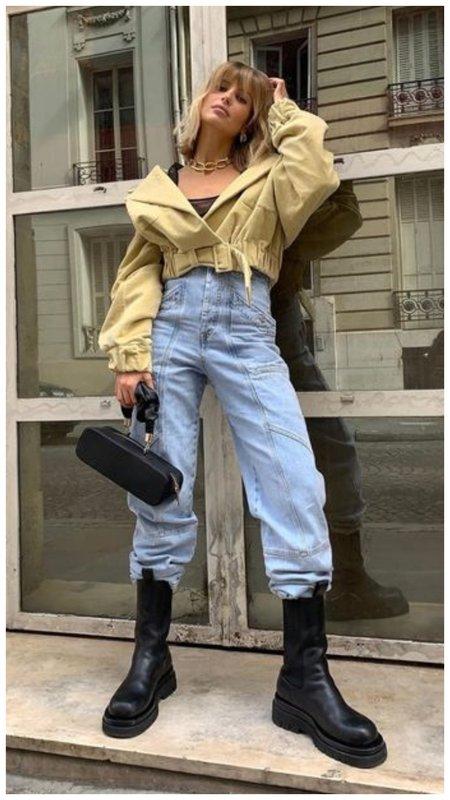 Как модно носить ботинки и джинсы