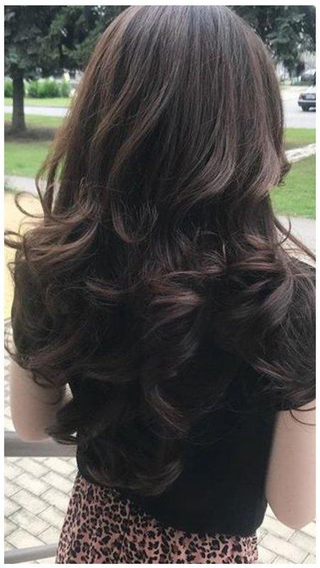"""Красивая укладка волос со стрижкой """"лесенка"""""""