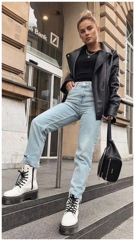 Джинсы и куртка-косуха
