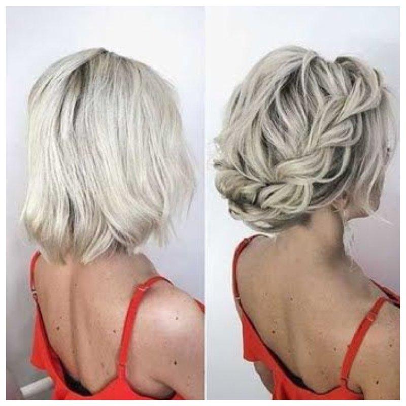 Плетение из коротких волос