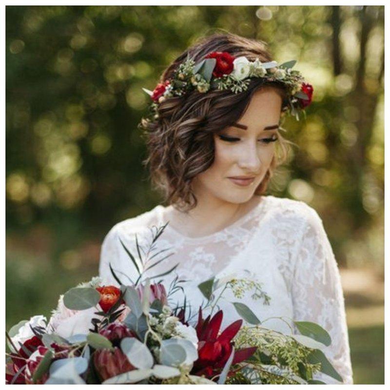 Ценок из красных цветов на свадьбу