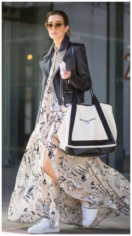 Классный образ с платьем и косухой
