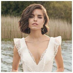 Невеста с кудрями и стрижкой каре