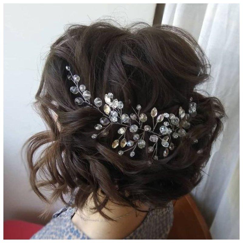 Свадебное украшение для волос с камнями
