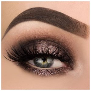 Вечерний макияж с накладными ресницами
