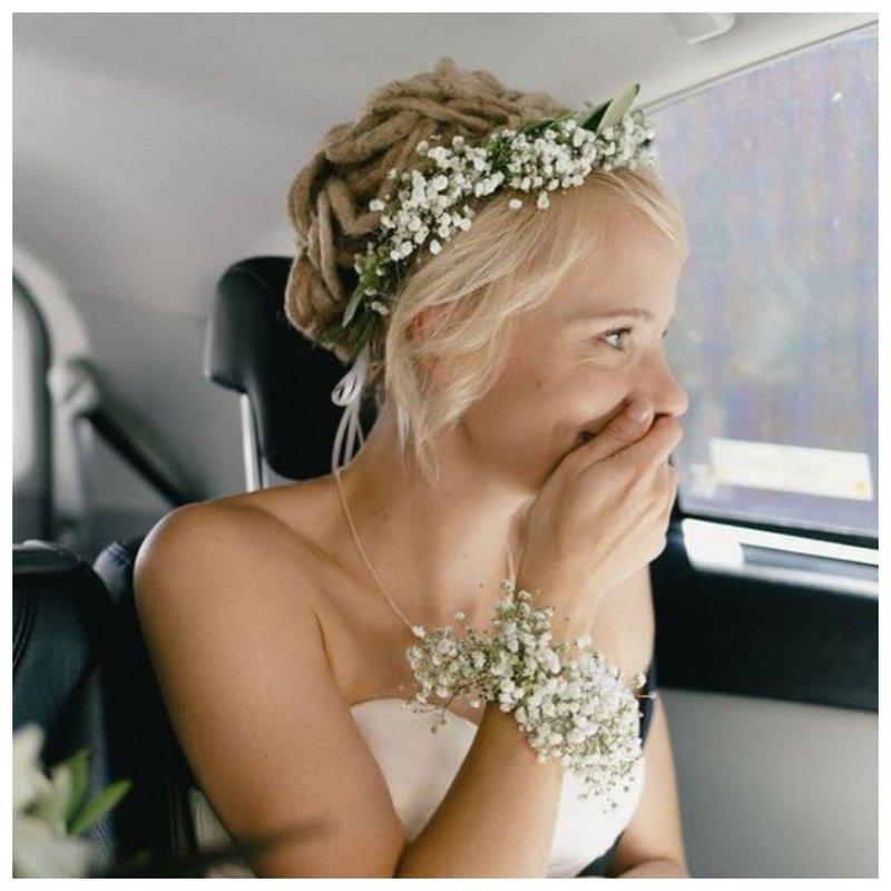 Прически для невест с короткими волосами