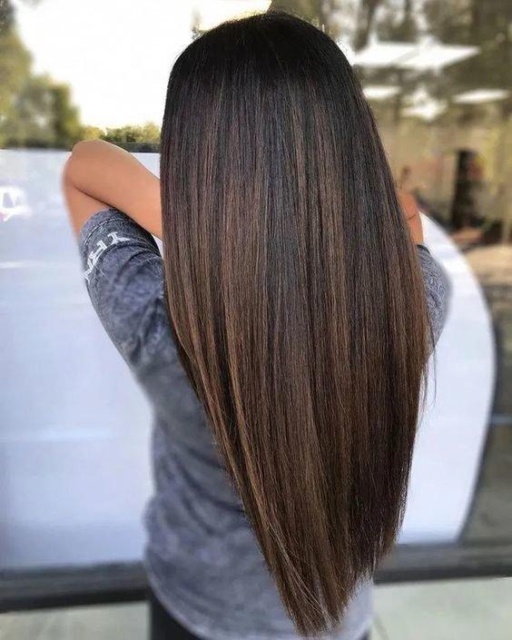 Красивый темный цвет волос