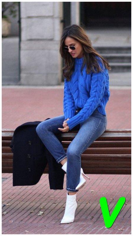 Как модно носить джинсы скинни