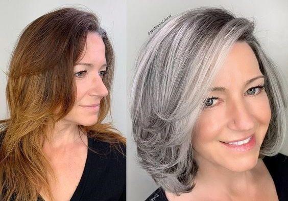 В какой цвет покрасить седые волосы