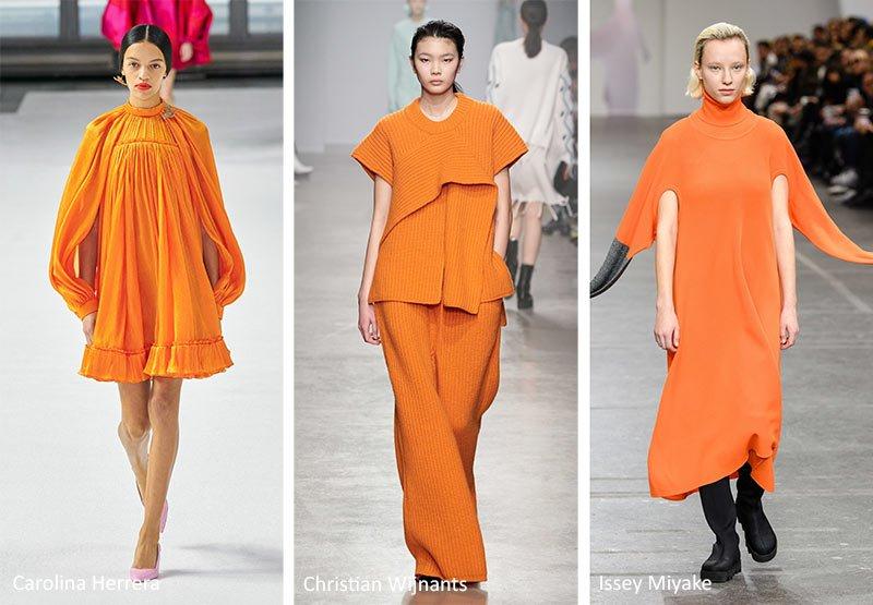 Модный оранжевый цвет