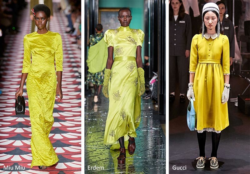 Красивый желто-зеленый цвет - тренд 2020