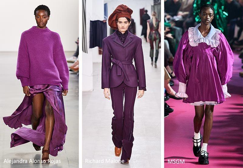 Модный пурпурный оттенок