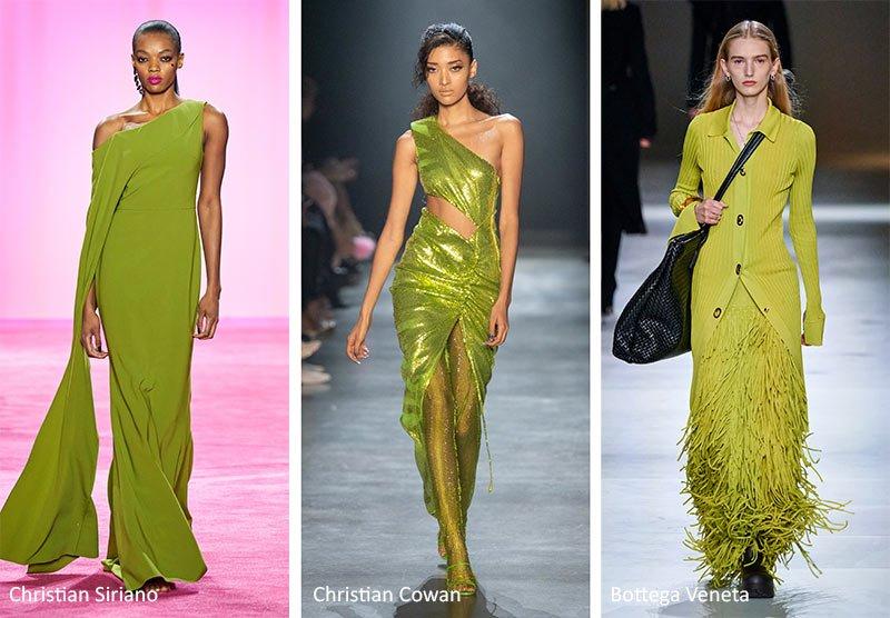 Красивый желто-зеленый цвет