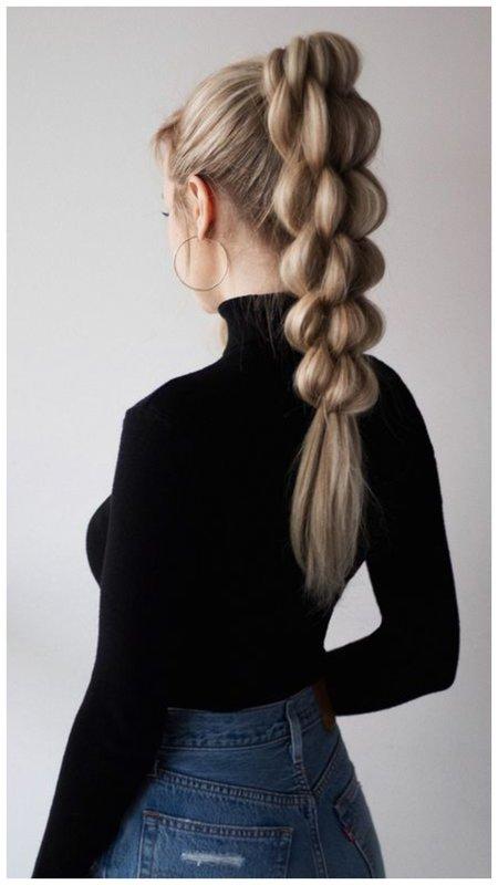 Оригинальная коса из хвоста