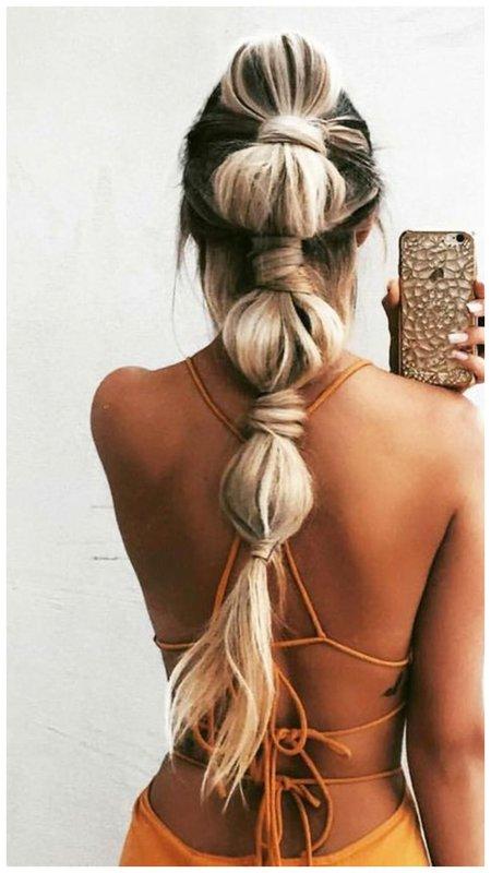 Идея для прически для длинных волос