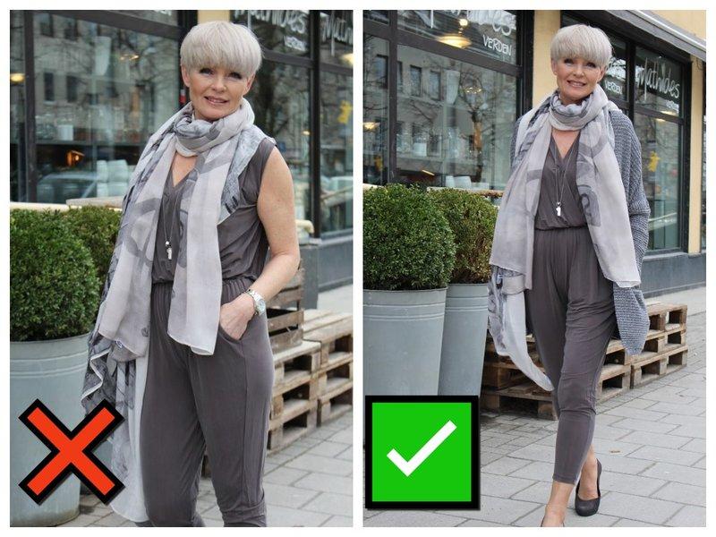 Идея с чем носить летний комбинезон женщине 50+