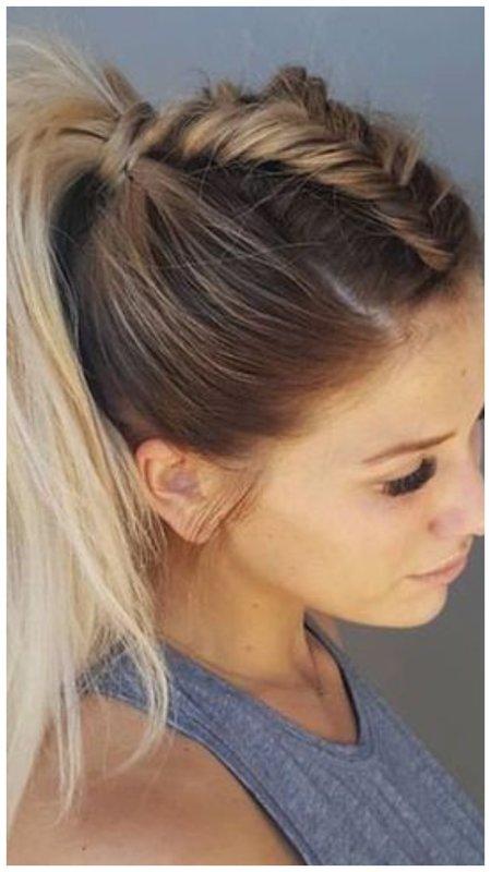 Красивое плетение из волос
