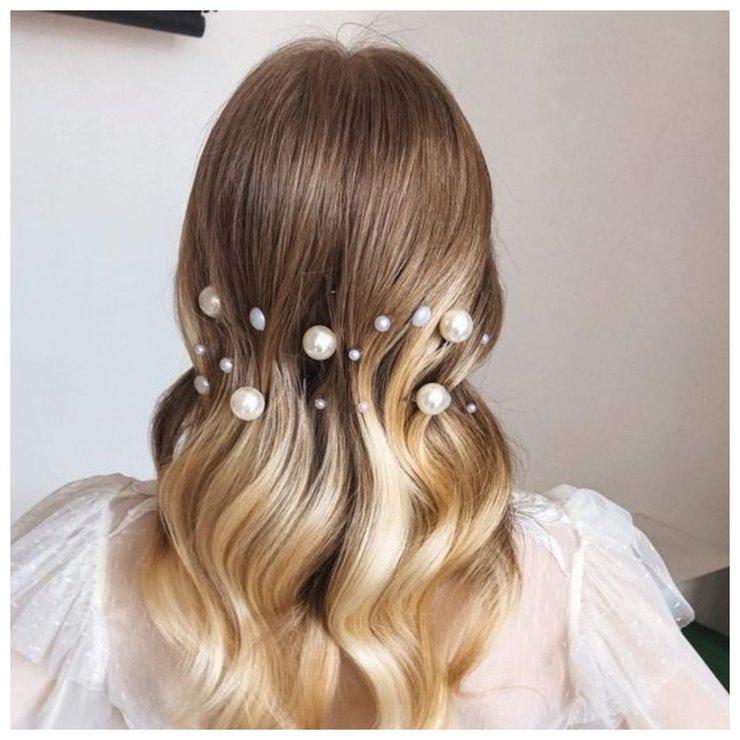 Фото укладки на средние волосы на свадьбу