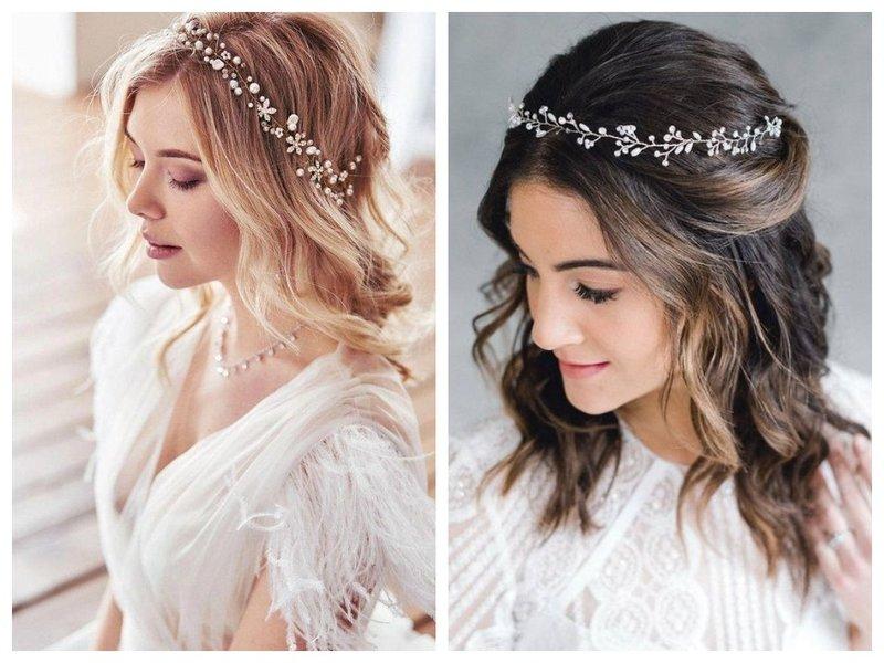 Невеста с короной на лице