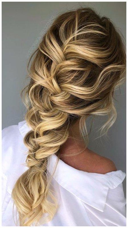 Красивая коса на свадьбу